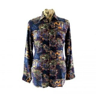 1980s shirts - 80s-multicolour-floral-print-shirt