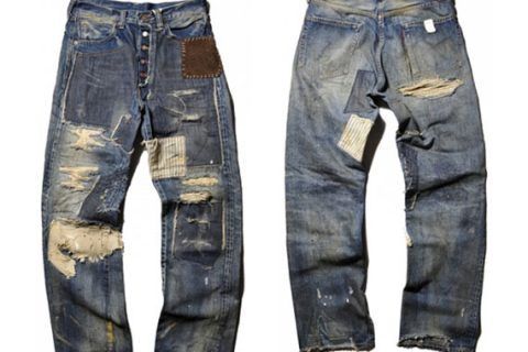 Levis Patchwork Vintage Denim
