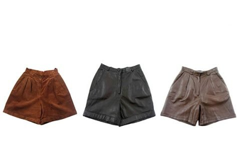 Vintage leather shorts -suede-shorts - 570x386