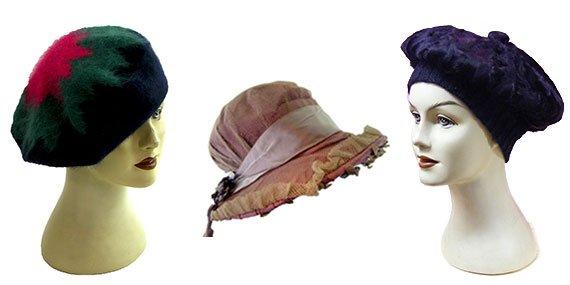 womens vintage hats, caps, beanies & berets