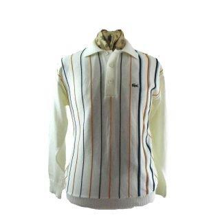 striped Lacoste sweater
