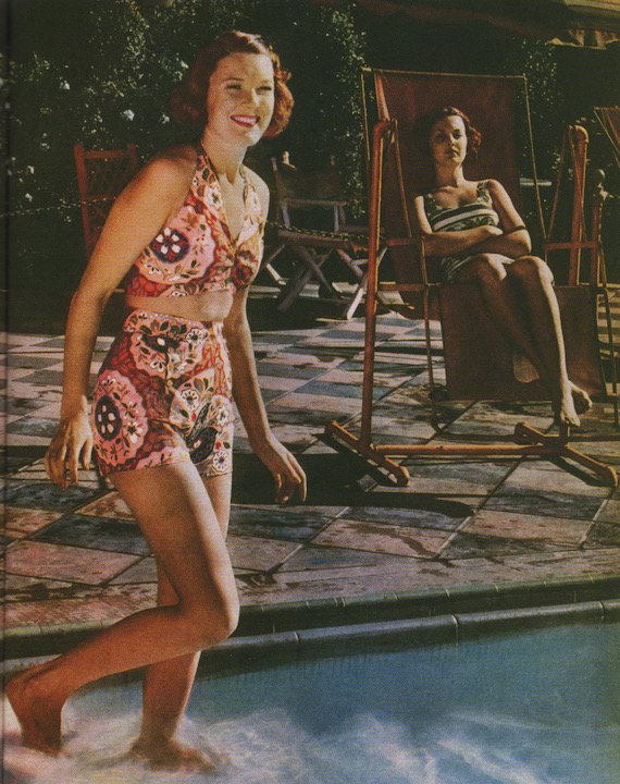 1930s fashion photos, not so different from today, Bikini, 1937.