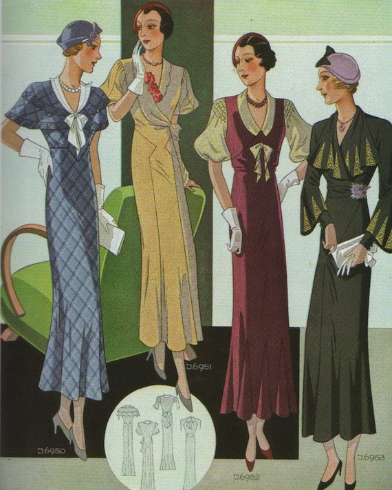 1930s Day dresses.