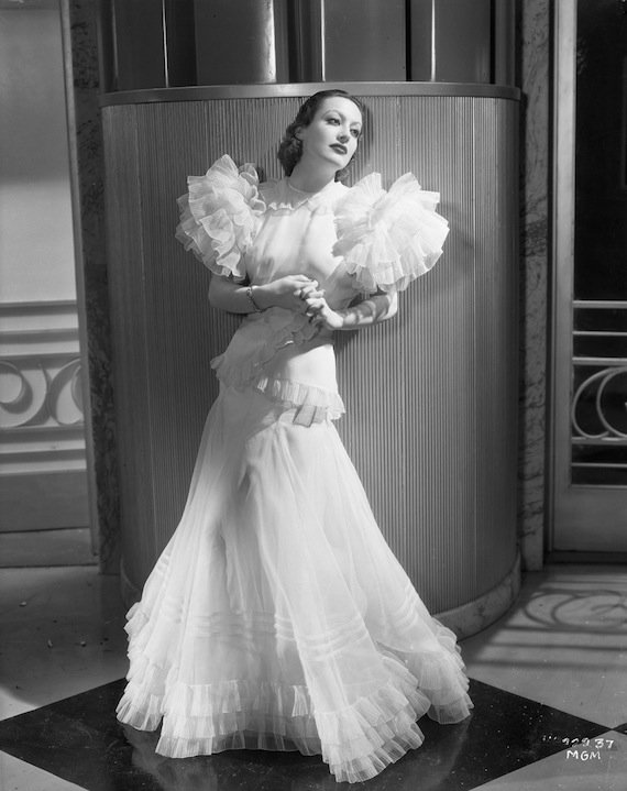 Joan Crawford in the famous dress from 'Letty Lynton' (1932)