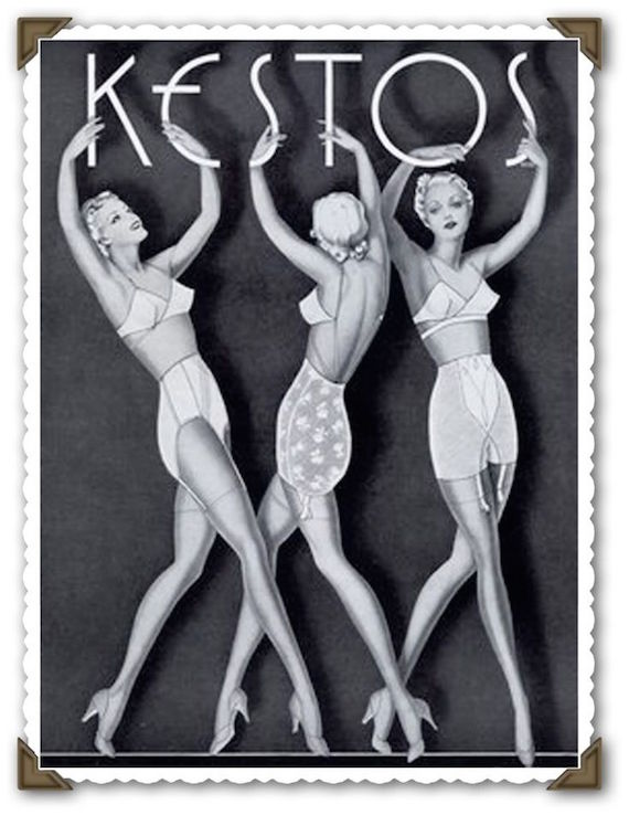 Kestos underwear, 1930s fashion poster