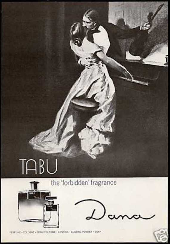 1930s perfume poster - Tabu advert.