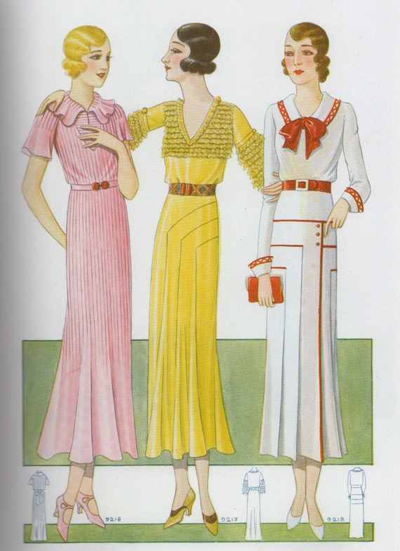 Three afternoon dresses, 1931