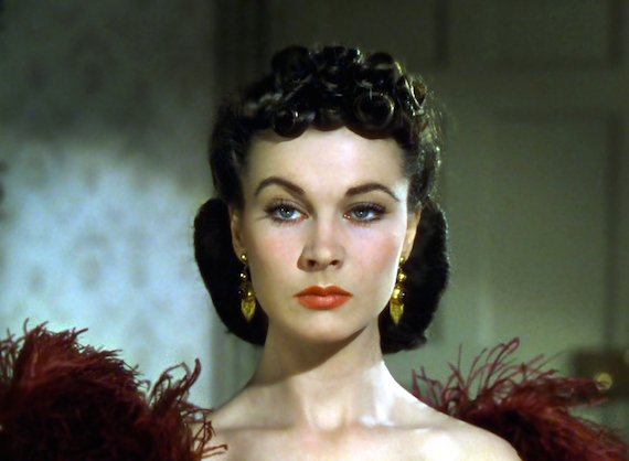 Movie stars glamourized 1930s fashion - Vivien Leigh in Gone With the Wind 1939