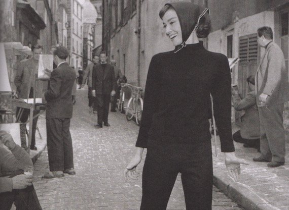 1950s fashion-audrey-hepburn-as-a-beatnik