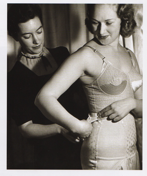 british-lady-trussed-up-in-her-underwear-1940-the-girdle-has-a-tiny-pocket