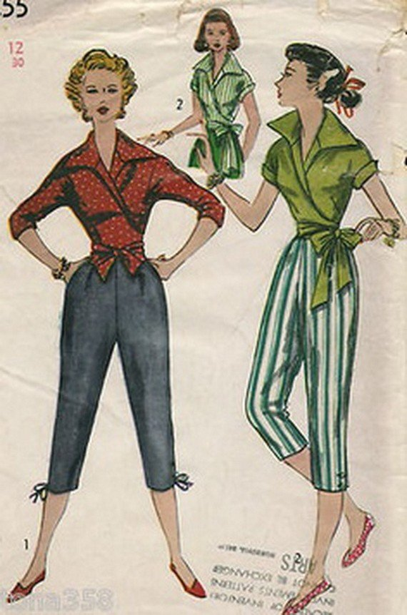 1950s capri-pants patterns