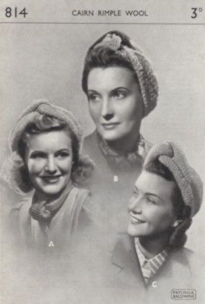 1940s fashion patterns-for-knitting-turbans