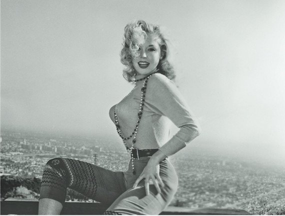 1950s sweater-girl