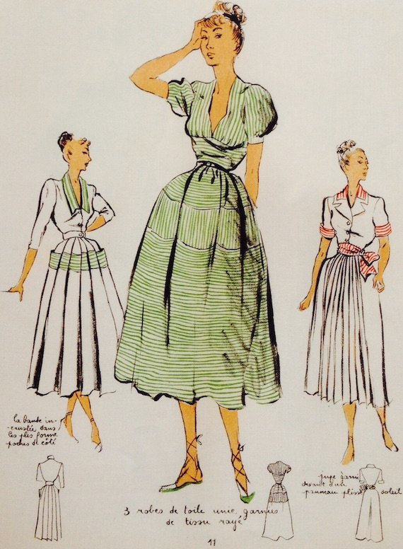 the-french-1940s-day-dresses-in-the-new-look-style-1948