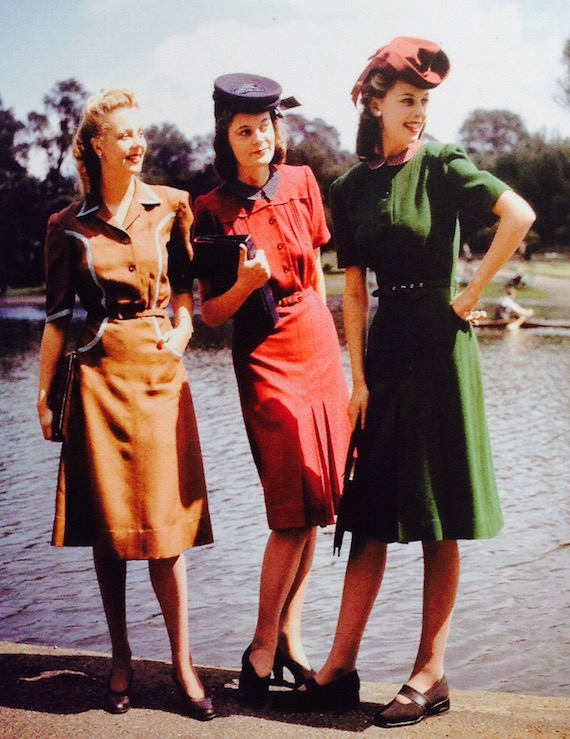 1940s dresses, utility-fashions-designed-by-norman-hartnell-1943
