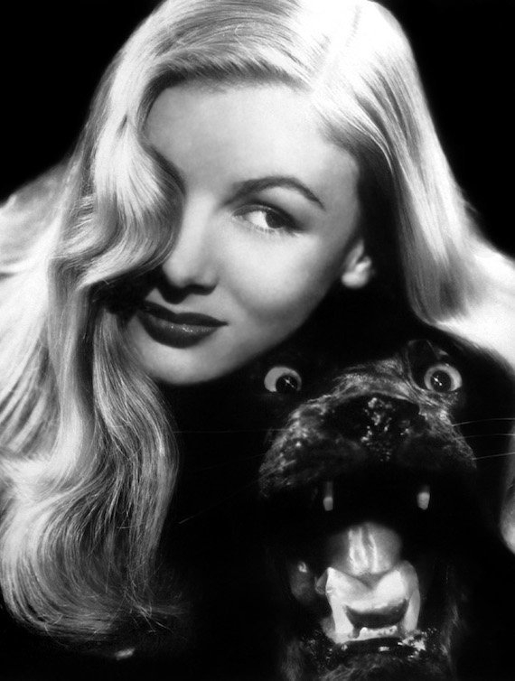 1940s fashion glamour photo of Veronica Lake 1945. Scanned by jane. Enjoy!
