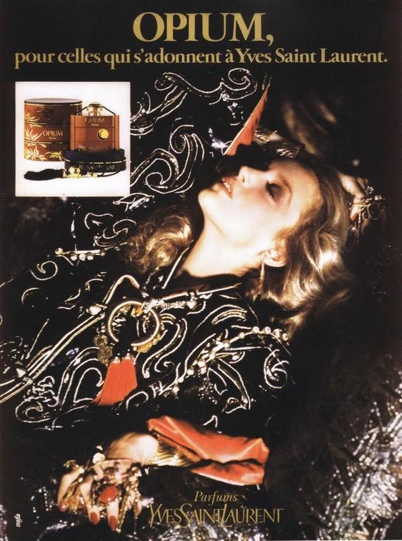 1970s Opium advert width=
