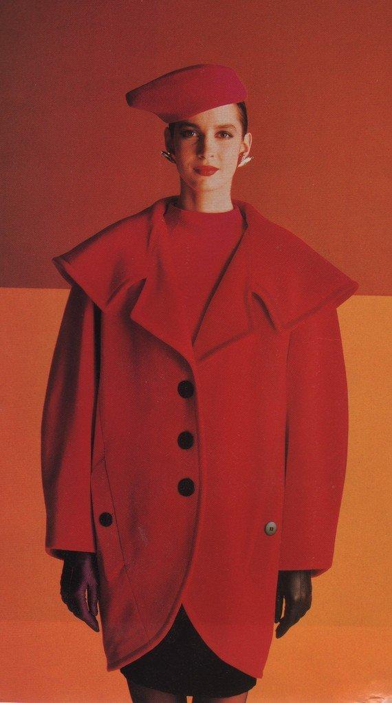 Key 1980s colours - scarlet, fuschia, tangerine, yellow and black.