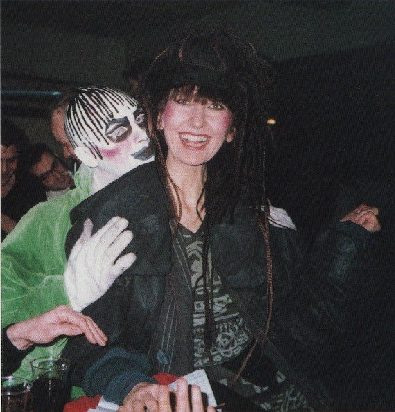Leigh Bowery and Gerlinde Costiff at Taboo, London 1985. Photo collection of Michael Costiff.