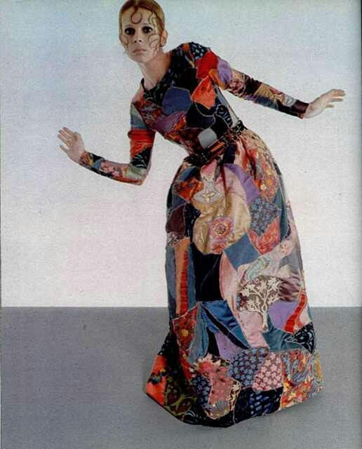 1969 Yves Saint Laurent silk patchwork dress